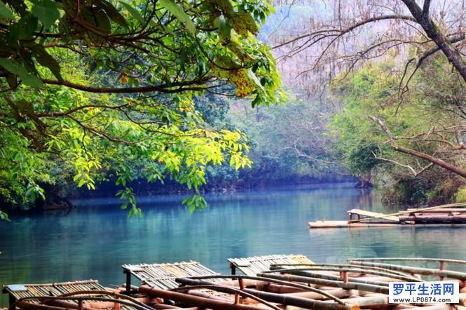 罗平旅游:多依河景点——竹筏