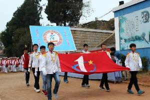 罗平县阿岗一中举行2015年冬季运动会